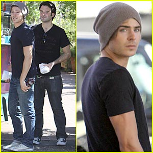 Zac Efron Gets Some Pom Pom Action
