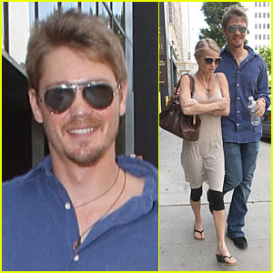 Chad Michael Murray Supports Miss USA