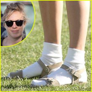 Chloe Sevigny Rocks Socks & Sandals