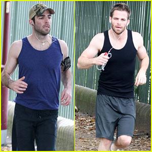 Chris Pine & Zachary Quinto: The Running Men