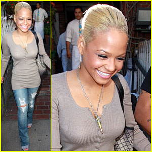 Christina Milian Has Blonde Ambition