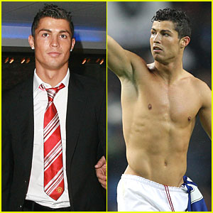 Cristiano Ronaldo Gets Shirtless Sexy