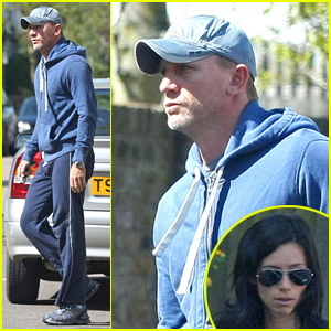 Daniel Craig Looks Serious In Sweats