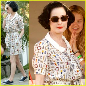 Dita Von Teese Goes Coachella Nautical