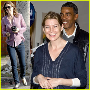 Ellen Pompeo Visits Bel Bambini... and Boston!