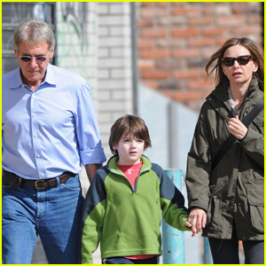 Harrison Ford & Calista Flockhart Have Family Time