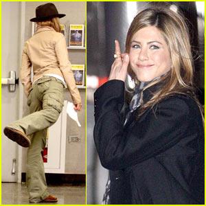 Jennifer Aniston Kicks It Into Baster Gear