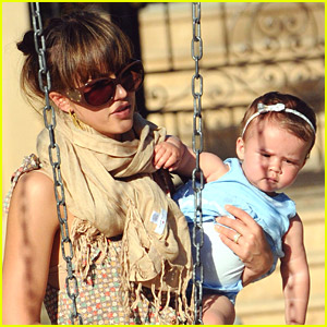 Jessica Alba Swings With Honor Warren