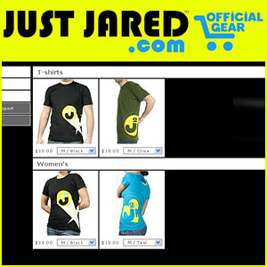 JustJared.com T-Shirts -- ON SALE NOW!