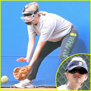 Reese Witherspoon Dons Catcher's Mask