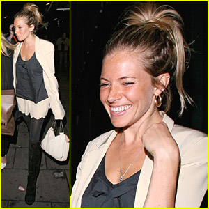 Sienna Miller Has A Pretty Ponytail