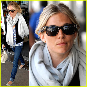 Sienna Miller Scarfs it Up