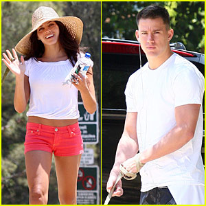 Channing Tatum: Memorial Day Dog Walking!