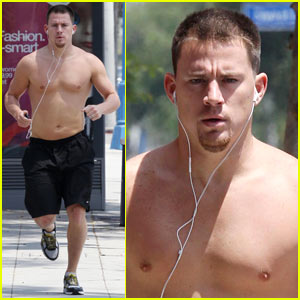 Channing Tatum Goes Shirtless Running
