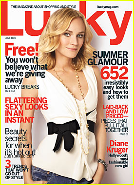 Diane Kruger Covers Lucky Magazine