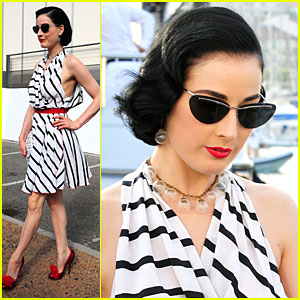 Dita Von Teese Stripes Out