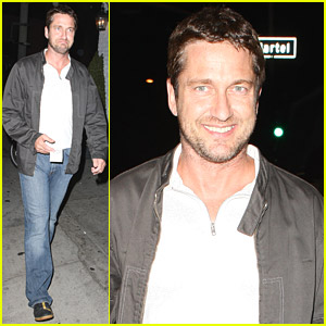 Gerard Butler Visits The Village Idiot