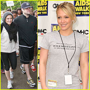Hilary Duff is an AIDS Walk Woman