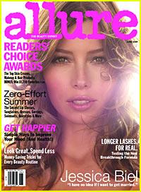 Jessica Biel Covers 'Allure' June 2009