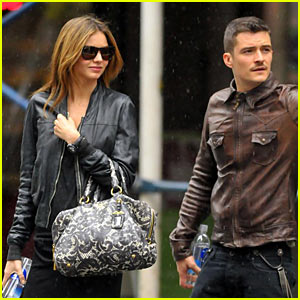 Orlando Bloom & Miranda Kerr: Cab Couple