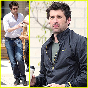 Patrick Dempsey Tries On Tracksuits