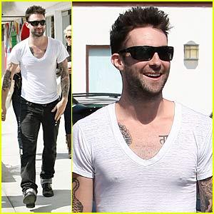 Adam Levine and His Plain White T