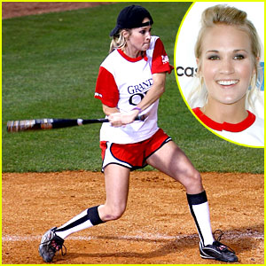Carrie Underwood is a Softball Sweetheart