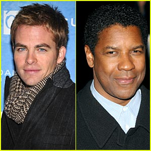 Chris Pine is Unstoppable with Denzel Washington