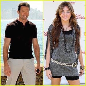 Hugh Jackman is Miley Cyrus's Personal Security