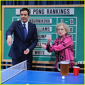 Betty White Loves Beer Pong!