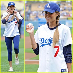 Lauren Conrad is Dodgers Delightful