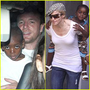 Madonna Gives Mercy a Piggyback Ride!