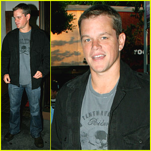 Matt Damon's Dinner Date