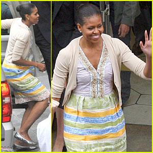Michelle Obama Gets Down To Bonpoint Business