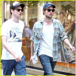 Robert Pattinson & Tom Sturridge Cap It Off