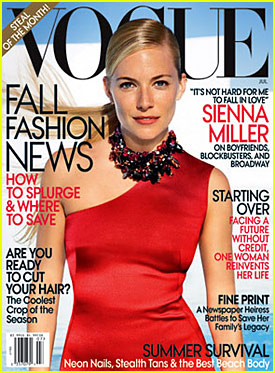 Sienna Miller Covers Vogue July 2009