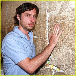 Zach Braff Visits The Wailing Wall