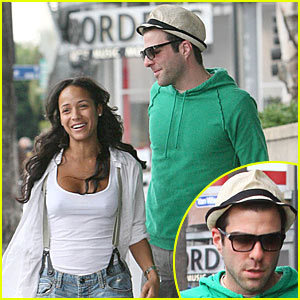 Zachary Quinto & Dania Ramirez: Heroes Hook-Up