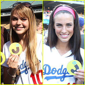 Aimee Teegarden & Jessica Lowndes Dig the Dodgers!