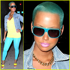 Amber Rose Sports Blue Green Hair