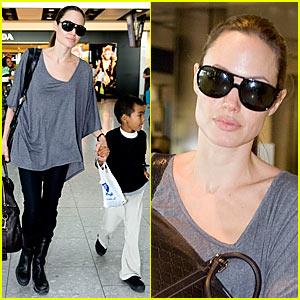 Angelina Jolie: Heathrow Hottie