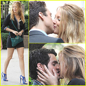 Blake Lively is the Kissing Bandit