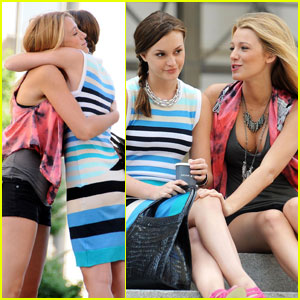 Blake Lively & Leighton Meester Hug It Out