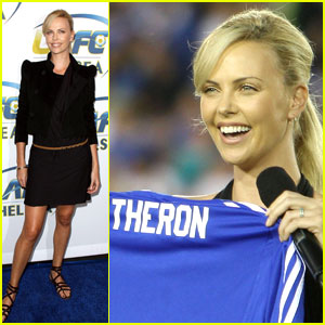 Charlize Theron is a Foxy Football Fan