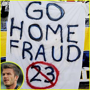 David Beckham Heckled By Fans