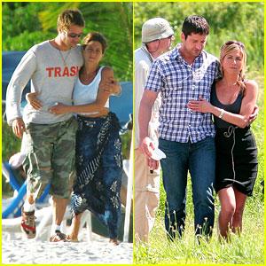 Jennifer Aniston & Gerard Butler Keep Close Off-Set