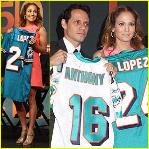 Jennifer Lopez & Marc Anthony: Dolphins Delighted