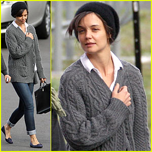 Katie Holmes Hits Crown Towers