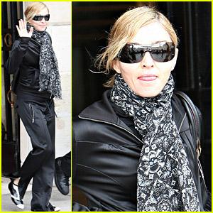 Madonna Performs In Paris