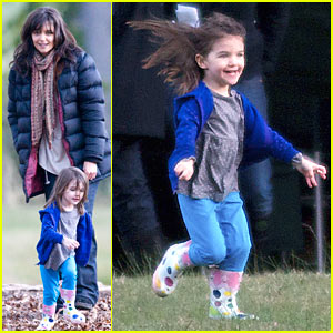 Suri Cruise: These Boots Were Made For Running
